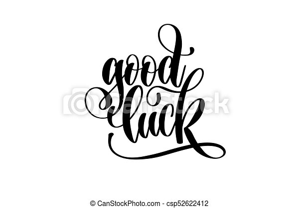good luck hand lettering inscription motivation and vector rh canstockphoto com good luck clipart animated good luck clipart gif