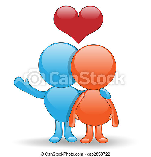 Good luck in love-Love Hug - csp2858722