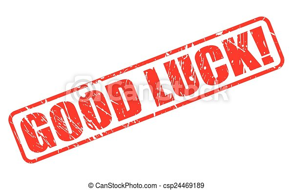 Good luck red stamp text - csp24469189