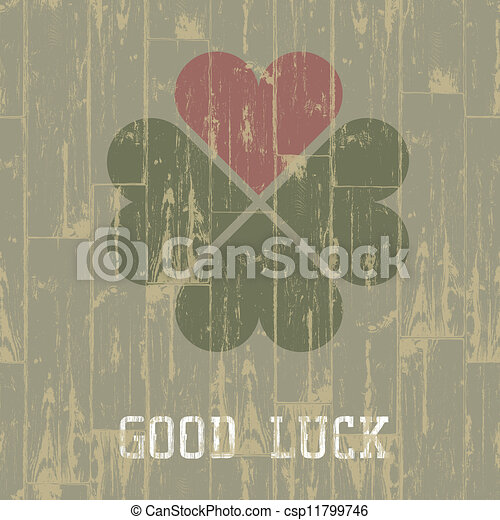 Good luck. St. Patrick's Day concept. Vector, EPS10. - csp11799746