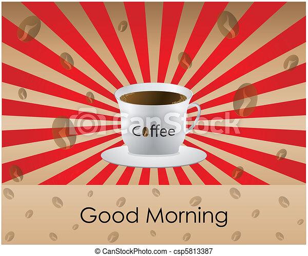 Good Morning coffee  - csp5813387