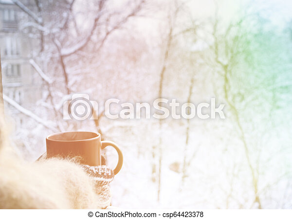 Good morning in winter - csp64423378