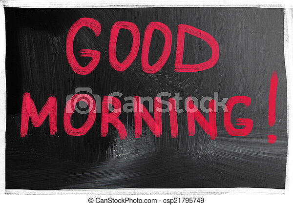 good morning - csp21795749