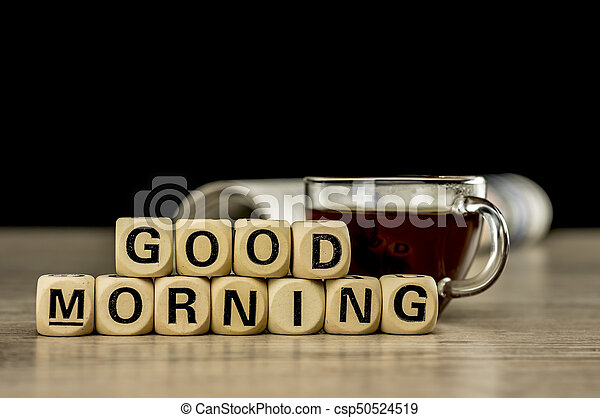 Good morning with coffee and newspaper - csp50524519