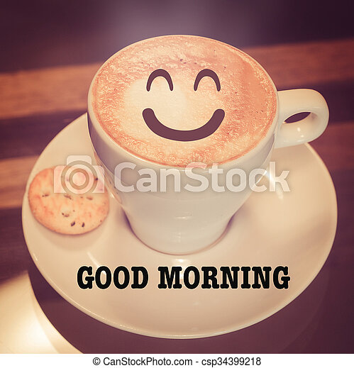 Good morning with coffee cup - csp34399218
