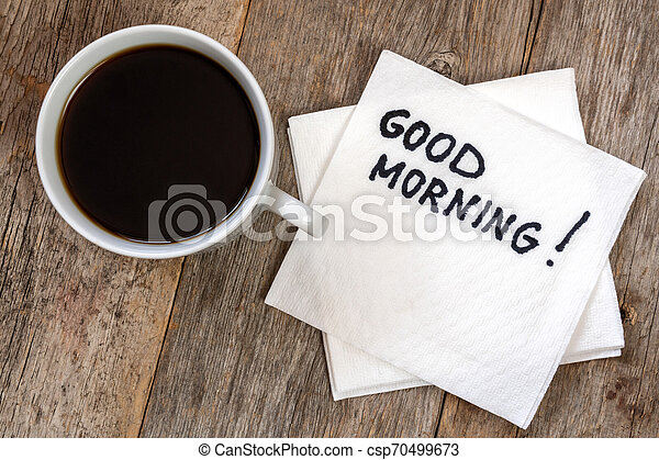 Good morning with coffee - csp70499673