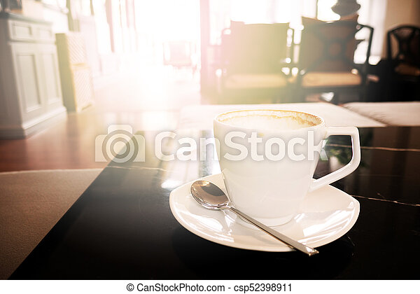Good morning with hot coffee - csp52398911