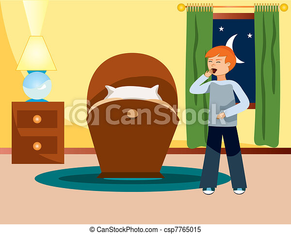 good night is an illustration eps 8 clipart vector search rh canstockphoto com snoopy good night clip art animated good night clip art