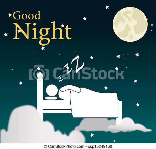 good night design over sky background vector illustration rh canstockphoto com goodnight moon clipart animated good night clip art