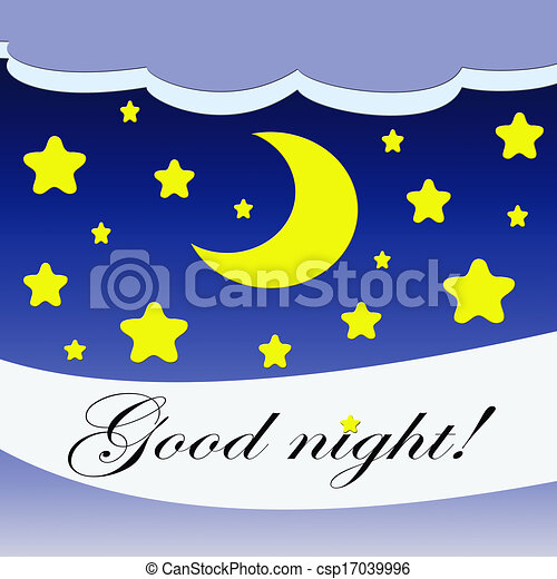 good night good night illustration with stars and moon stock rh canstockphoto com goodnight moon clipart good night clip art free