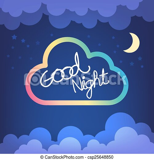 good night letter with cloud and sky vector clipart vector search rh canstockphoto com goodnight moon clipart snoopy good night clip art
