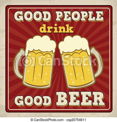 Good People Drink Beer Poster