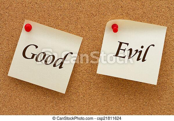 Good versus Evil - csp21811624