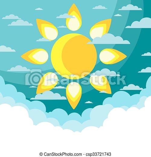 Good weather background. Vector - csp33721743