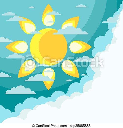 Good weather background. Vector - csp35085885