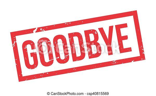 Goodbye rubber stamp - csp40815569
