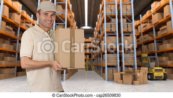 Goods reception at warehouse a - csp26509830