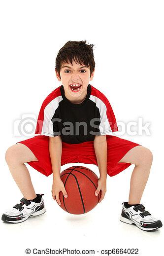 Goofy Funny Boy Child Basketball Player - csp6664022