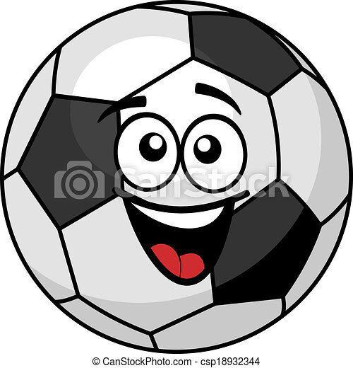 Goofy Soccer Ball With A Big Happy Smile Vector