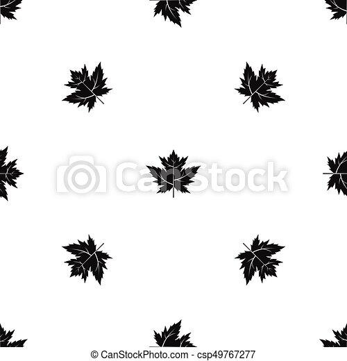 Gooseberry leaf pattern seamless black - csp49767277