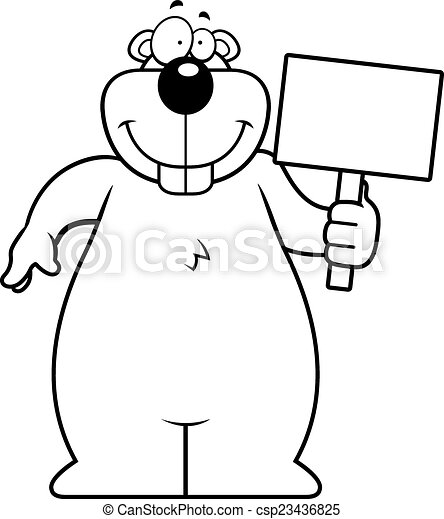 Gopher Clipart Black And White