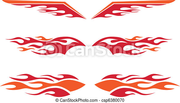 gorący pręt, płomienie - csp6380070