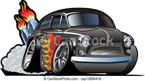 gorący pręt, rysunek, retro - csp13684416