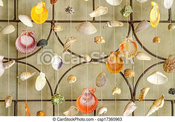 gordijnen zee schalen csp17360963