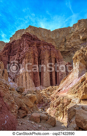 Gorge in the dry mountains - csp27422890