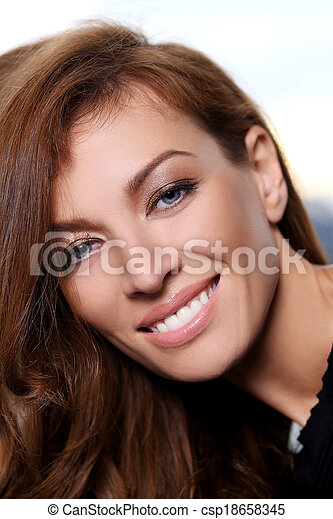 Gorgeous woman with beautiful face - csp18658345