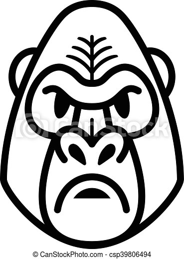 Grficos vectoriales EPS de gorila mono mono cara  Gorilla
