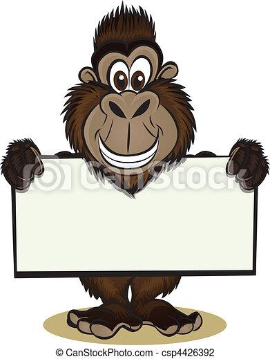 Gorila sosteniendo señal - csp4426392