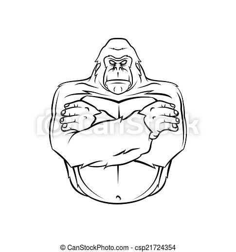 Ilustración de vectores de gorila - csp21724354