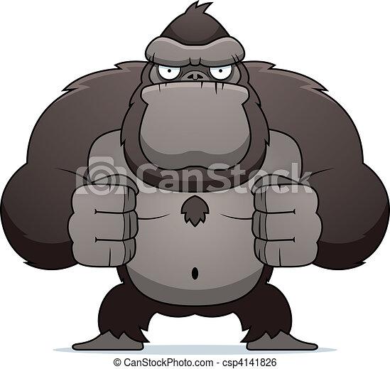 gorilla, böser  - csp4141826