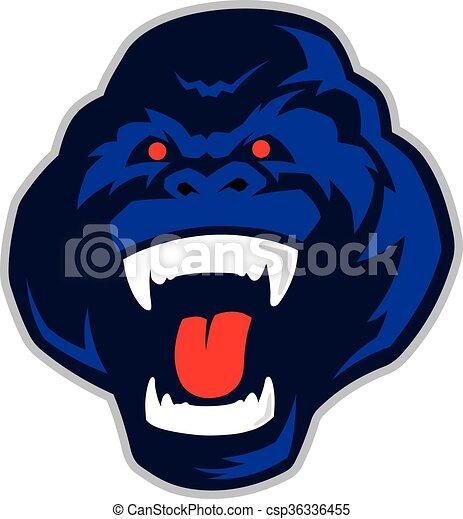 Gorilla head mascot - csp36336455