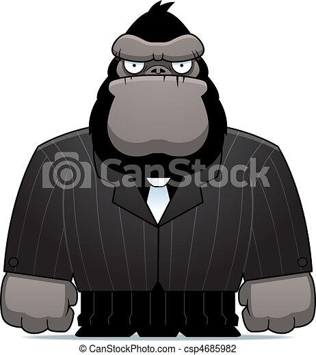 gorilla, kostuum - csp4685982