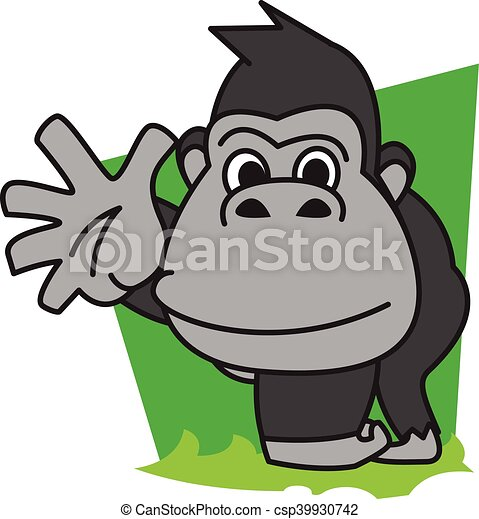 gorilla vector art illustration eps vector search clip art rh canstockphoto com gorilla clipart images gorilla clipart black and white