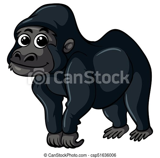 Gorilla with happy face - csp51636006