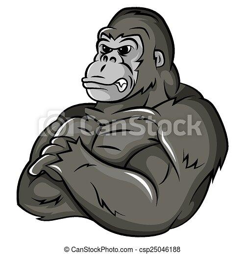 gorille, fort, mascotte - csp25046188