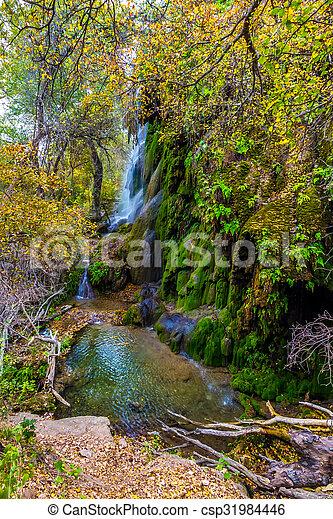 Gorman Falls in Autumn, Texas. - csp31984446