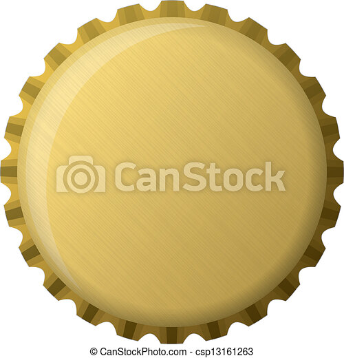 Capa de botella de oro, ilustración - csp13161263