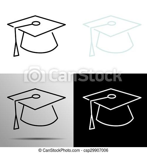 La gorra de graduación - csp29907006