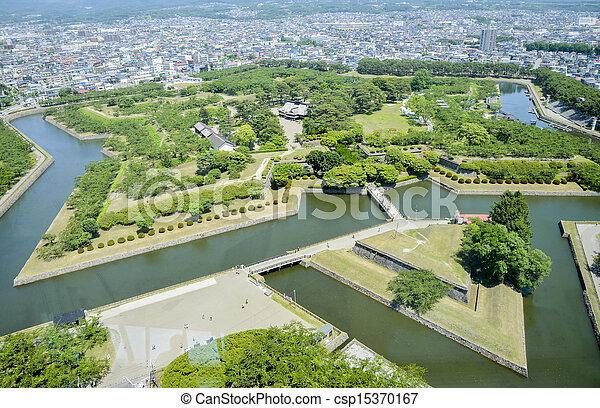 Goryokaku Park in Hakodate Japan2 - csp15370167