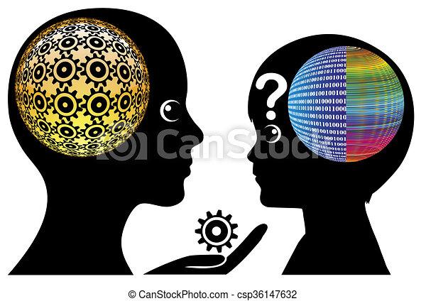 gosses, malentendu, numérique - csp36147632