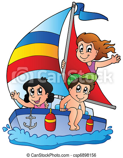 gosses, yacht, trois - csp6898156