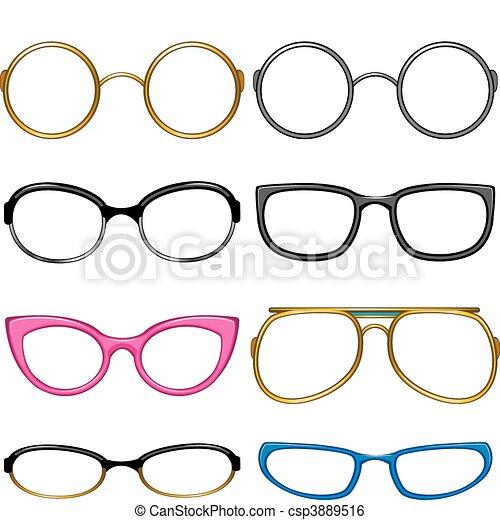 gosto, cada, cobrança, óculos - csp3889516