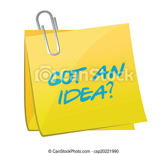 got an idea post illustration design - csp20221990