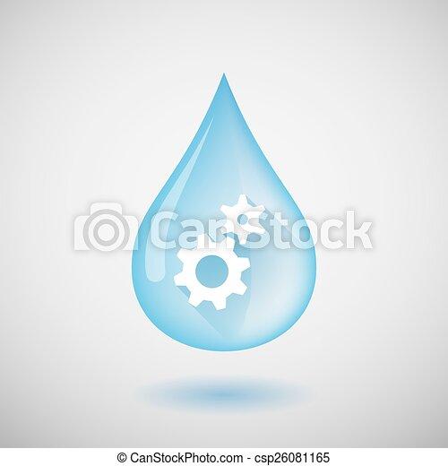 Gota de agua con engranajes - csp26081165