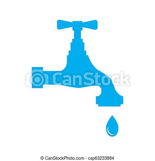 Agua con gota - csp63233884