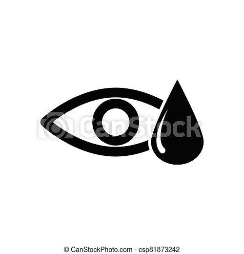 gota, agua, icono, ojo - csp81873242